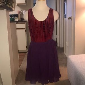 Ark & Co. red and purple dress